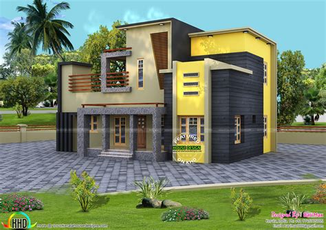 kerala home design 1800 sq ft colorful contemporary style house 1800 sq ft kerala home