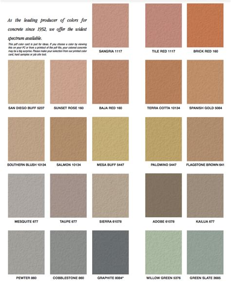 quikrete cement color quikrete liquid cement color chart choice image chart