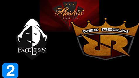 Jersey Rex Regum Qeon 2017 faceless vs rex regum qeon 2 masters manila 2017