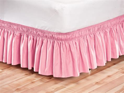 bed skirt solid wrap around elastic bed skirt by oakridgetm ebay