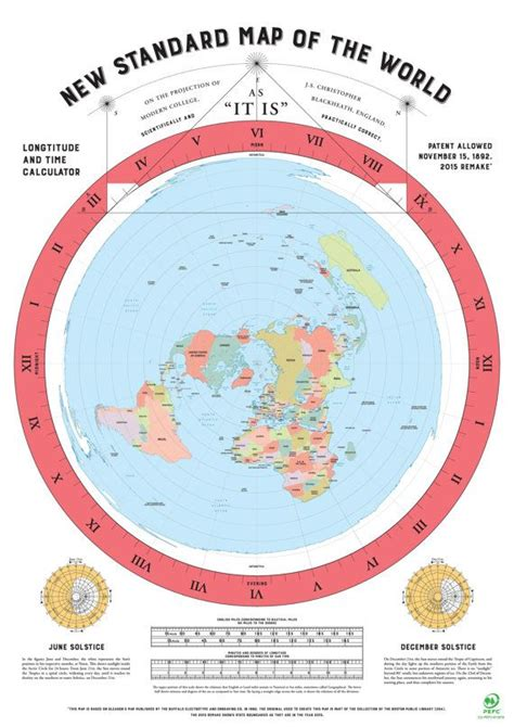 flat globe maps flat earth map 2015 remake of gleasons map by