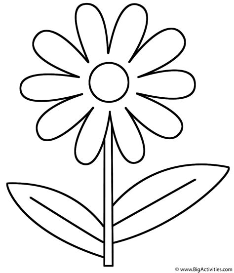 coloring pages of big flowers letter f coloring page alphabet