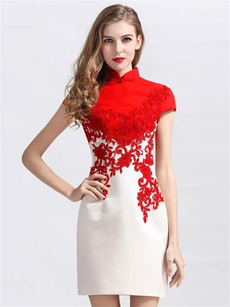 Dress Anak Customade custom tailored qipao cheongsam dress with lace contrast cozyladywear