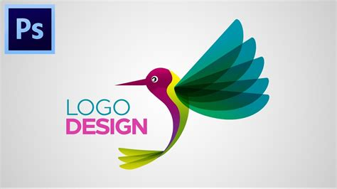 logo design on photoshop cc tutorial how to make logo design adobe photoshop cc youtube