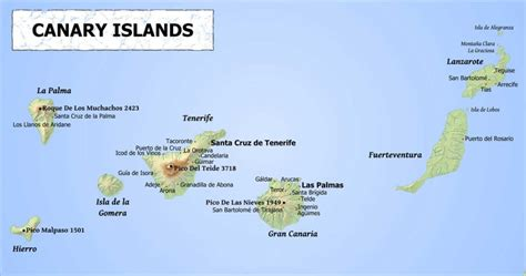 canary islands map guide to the 7 canary islands costas