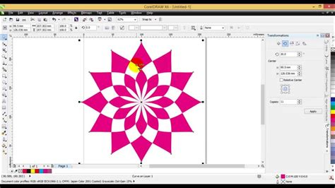 create pattern corel draw learn how to design visiting card in coreldraw