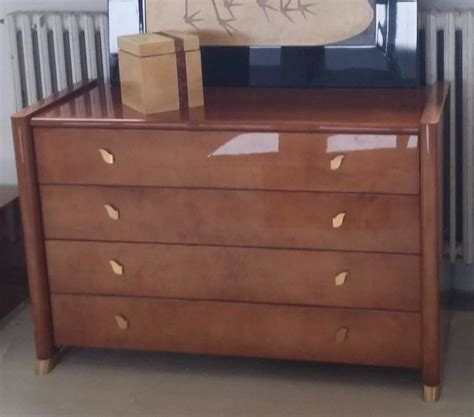tura 1990s bedroom set goatskin and brass almond