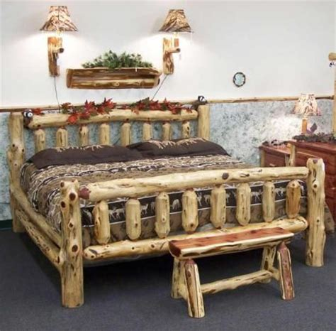 log beds king size king size log bed beautify bed s pinterest