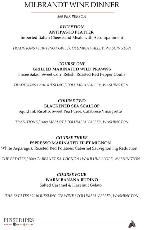 dinner for 4 menu the official of mjpr chicago