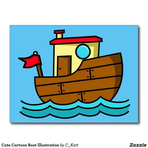boat drawing cute cute cartoon boat illustration postcard beginning of