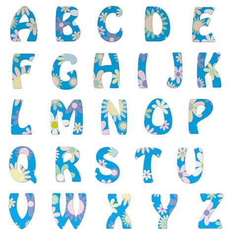 alphabet letters floral free stock photo domain pictures