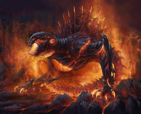 lava monster by benu h on deviantart