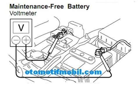 Alat Ukur Ac Listrik Voltmeter Digital Stop Kontak Pln T1310 tips dan cara mengecek aki mf masih bagus atau tidak otomotif mobil