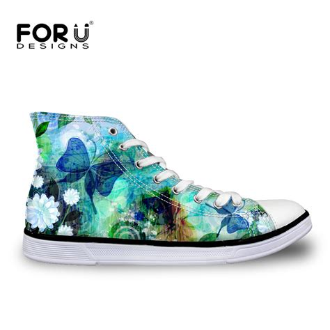 womens cool sneakers cool butterfly womens lace up high top shoes