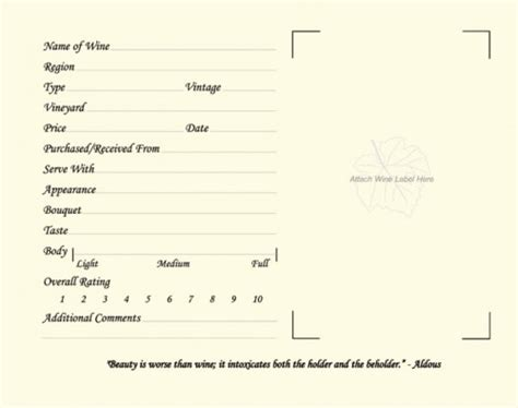 Wine Tasting Journal Template welcome to wine wine journals winecollective