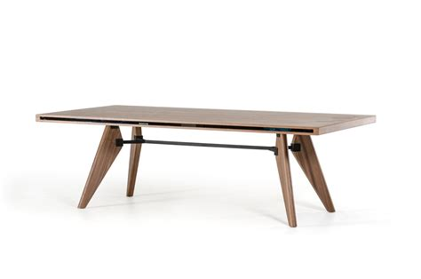 modrest kennedy mid century walnut dining table