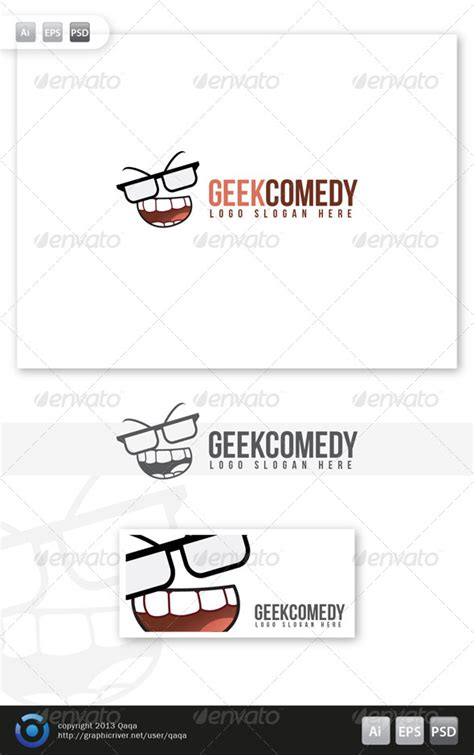 dafont laughing and smiling geek comedy logo graphicriver