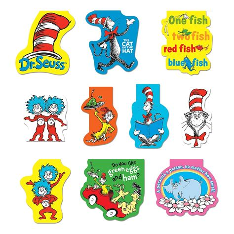 printable magnetic bookmarks dr seuss school supplies dr seuss magnetic bookmark
