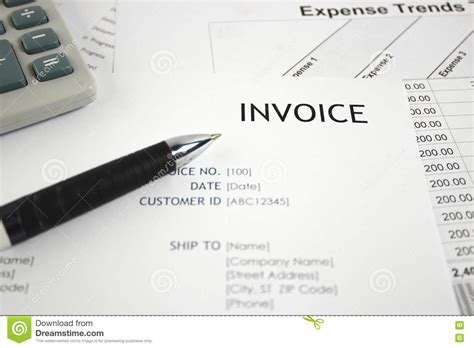 Letter Headed Invoice Books Invoice Letter Royalty Free Stock Image Cartoondealer 66816418