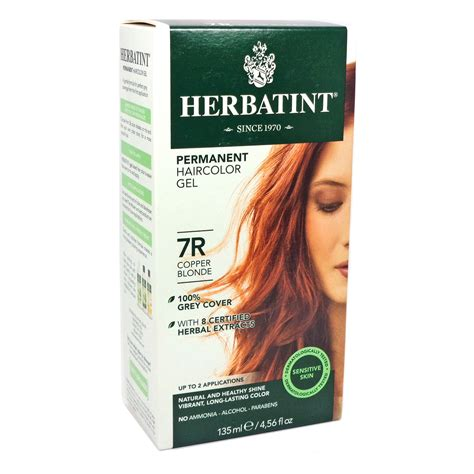 herbatint hair color herbal hair color 7r copper by herbatint hair