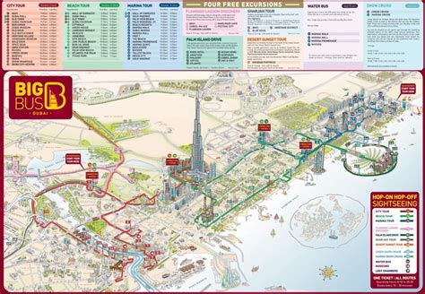 dubai in map dubai tourist attractions map