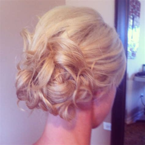 Curls Pinned Up Hairstyles by Low Side Bun With Curls Pinned Up Wedding