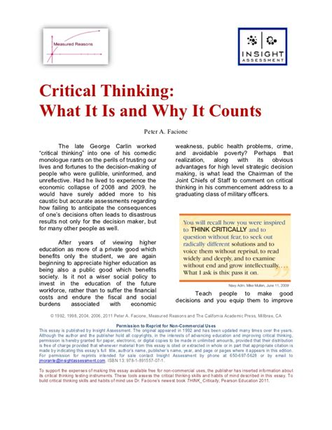 What Is A Critical Thinking Essay by Critical Thinking Disposition Affordable Price Www Alabrisa