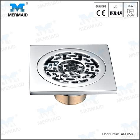 Gbs 10 Floor Drain sell 10 10cm artistic brass bathroom square floor drain trap waste grate with hair strainer