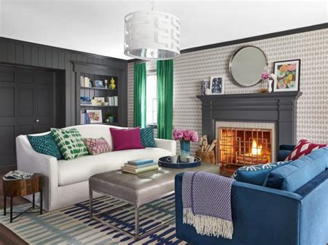 Hgtv Small Living Room Makeover From Bland To Stylish Before And After Living Room