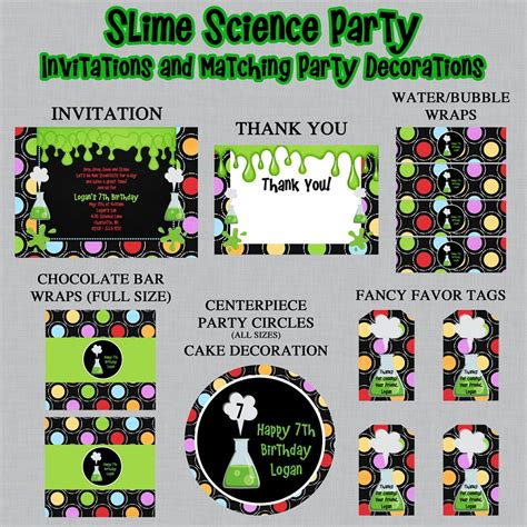 printable science party decorations science theme printable party package mad scientist
