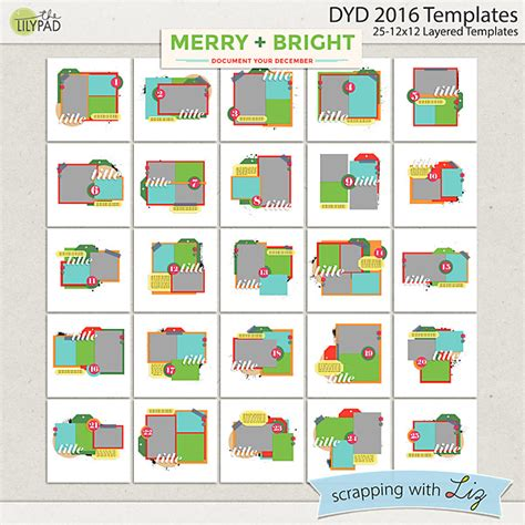 merry and bright card template digital scrapbook template merry and bright dyd 2016