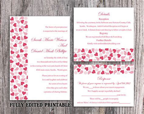 wedding invitation pdf file printable wedding invitation suite printable invitation
