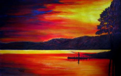 acrylic paint sunset how to paint and sunset acrylic sunset paintings