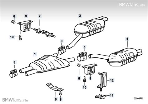 supplement 8 to part 742 exhaust system rear bmw 8 e31 850ci m73 bmw parts