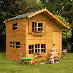 new wooden playhouse 8x6 wood 2 floor play wendy