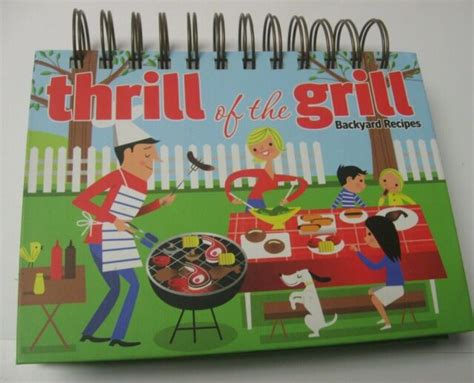 thrill   grill backyard recipes book  stand