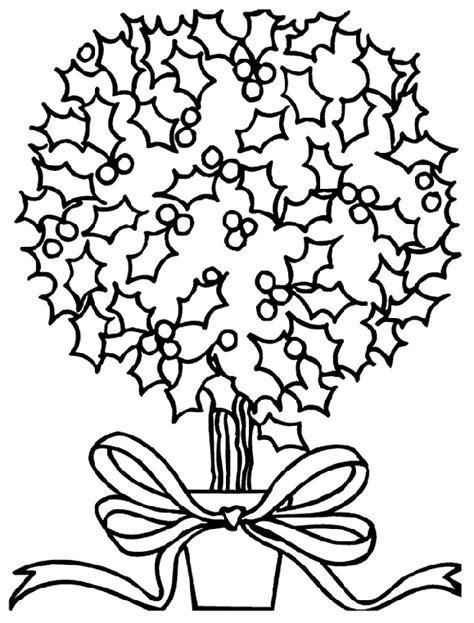 Christmas Holly Bush Crayola Com Au Coloring Page Bush