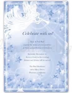 Printable holiday angel invitation template