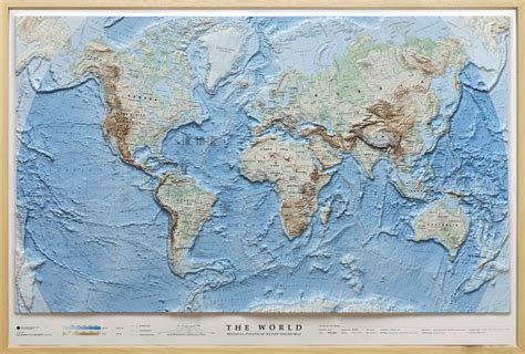 relief map relief map world