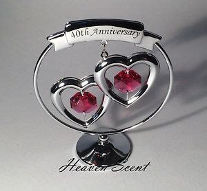 40th Wedding Anniversary What Gift by 40th Ruby Wedding Anniversary Gift Ideas With Swarovski