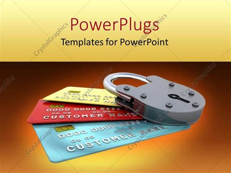 Credit Card Key Template by Powerpoint Template A Number Of Credit Cards With A Lock