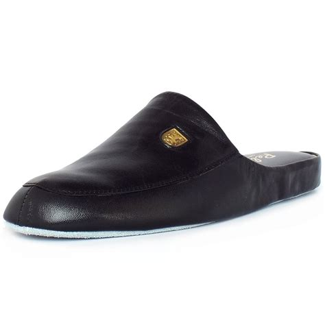 mens slippers relax slippers williams s luxury black leather