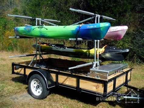 boat trailer ideas build your own kayak trailer no welding or cutting