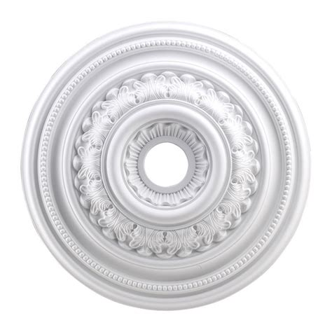 westinghouse 10 in smooth white finish ceiling medallion