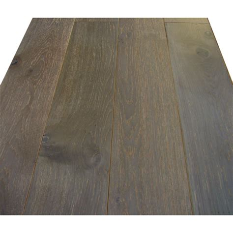wood flooring solid oak 18x154mm mystic grey brushed lacquered click fitting real wood