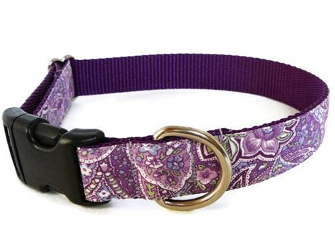 cute pattern dog collars cute floral dog collar pretty girly purple in a paisley