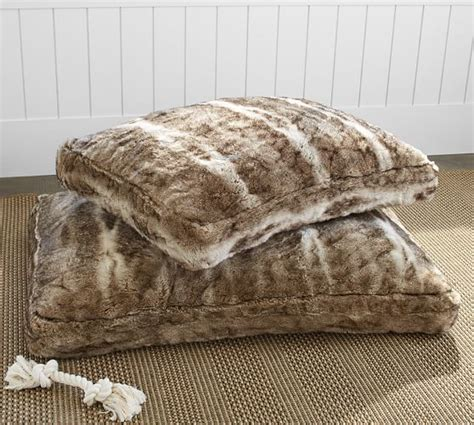 faux fur dog bed faux fur pet bed cover caramel ombre pottery barn