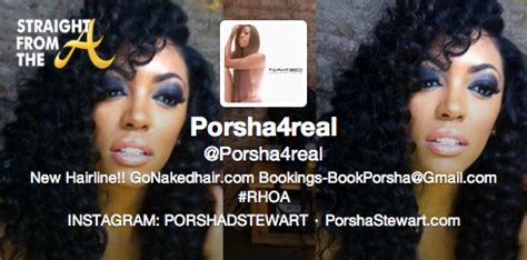 porsha williams twitter page porsha stewart williams twitter straight from the a