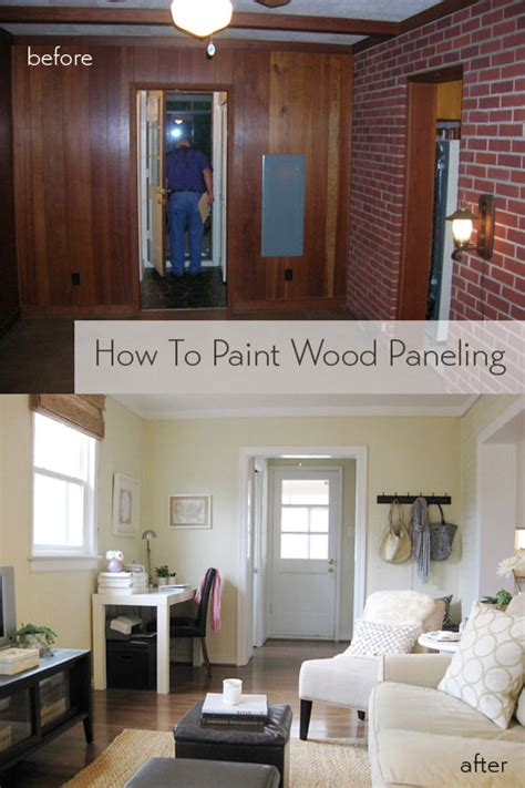 how to paint wood paneling how to paint wood paneling young house love