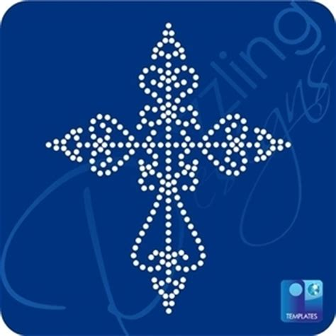 bling templates cross rhinestone template stencils sticky flock templates